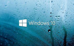 Windows 10 Wet Glass